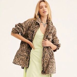 Free People Seize The Day Leopard Jacket M